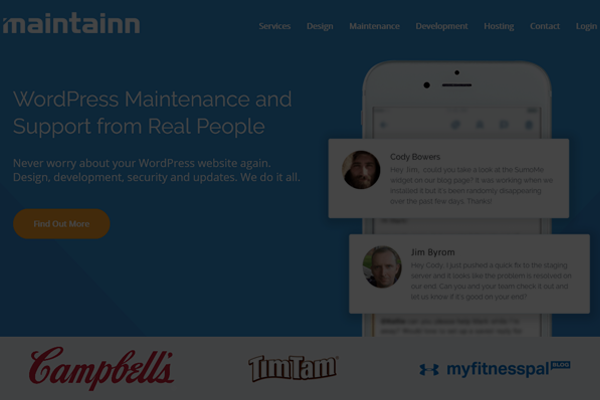 maintainn wordpress maintenance service