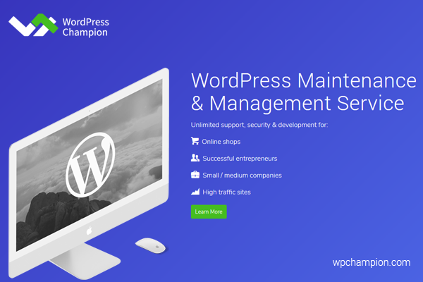 wpchampion wordpress maintenance and management services
