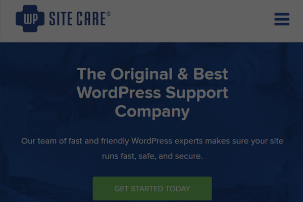 wpsitecare wordpress maintenance company