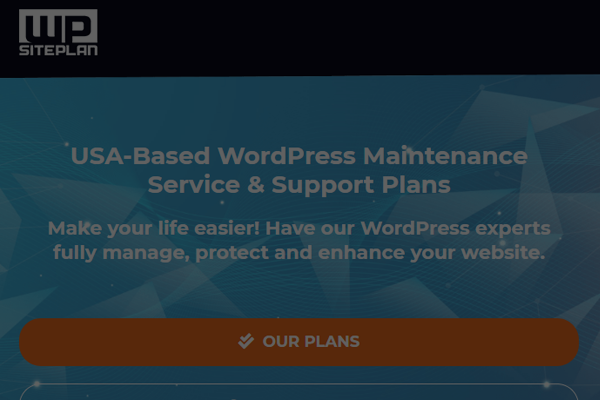 wpsiteplan wordpress maintenance